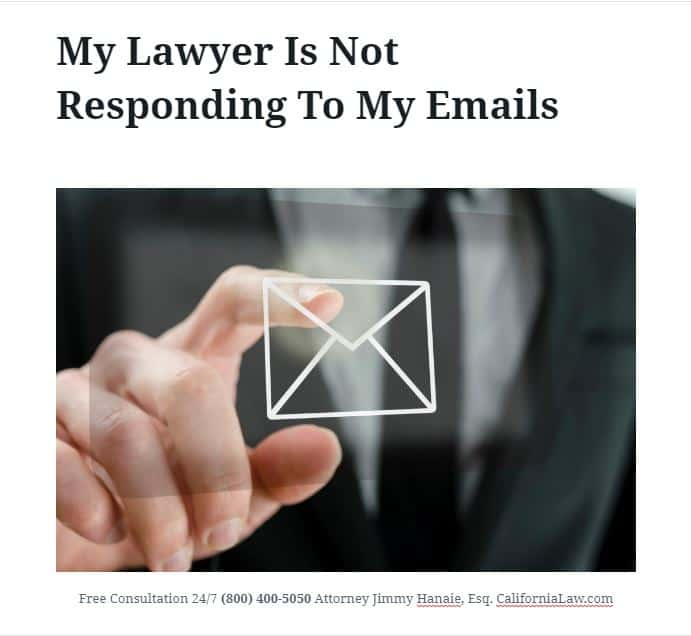 my lawyer is not responding to my emails 2