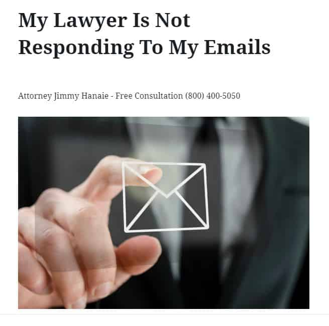 my lawyer is not responding to my emails 3